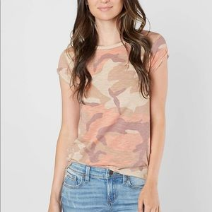 Free People Clare T-shirt Blush Camo